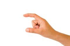 Handen rymmer det faktiska kortet eller ilar telefonen Royaltyfri Foto