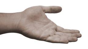 handen som ut hjälper, ner Royaltyfri Foto