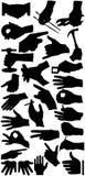 handen undertecknar silhouetten Arkivfoton