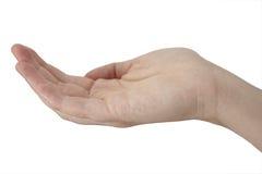 handen ut ner royaltyfri bild