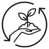 Handen valde - det organiska lantbruket - illustrationen stock illustrationer