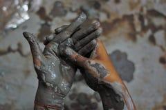 Handen van artisanaal - 4 stock foto's