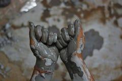 Handen van artisanaal - 3 stock afbeelding