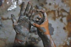 Handen van artisanaal - 12 royalty-vrije stock fotografie