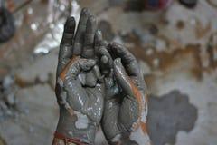Handen van artisanaal - 10 royalty-vrije stock foto's