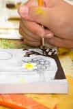 Handen van de kunstenaars Royalty-vrije Stock Afbeeldingen