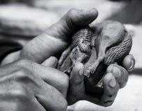 Handen van de meester stock fotografie