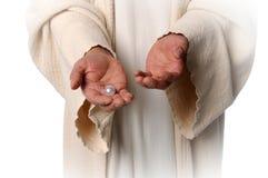 Handen van de Parel van de Holding Jesua Stock Foto's