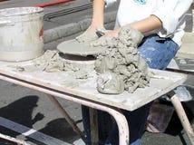 Handen van de pottenbakker Royalty-vrije Stock Foto