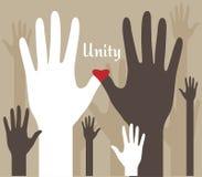 Handen van de Samenvatting van de Eenheid vector illustratie