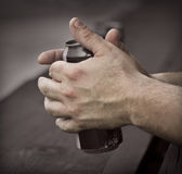 Handen van een arbeider Stock Afbeelding