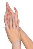 Handen van een jonge vrouw Royalty-vrije Stock Afbeelding