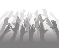 Handen van een Menigte van het Bereik van Mensen voor Copyspace vector illustratie