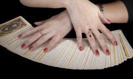 Handen van fortuneteller Stock Afbeelding