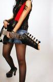Handen van gitarist royalty-vrije stock fotografie