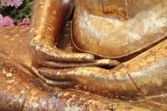Handen van het beeld van Boedha Stock Afbeelding