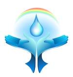 handen van het water Royalty-vrije Illustratie