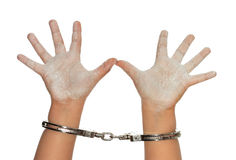 Handen van kinderen Stock Foto's