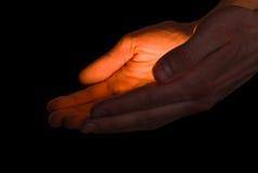 Handen van liefde Stock Foto's