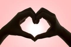 Handen van Liefde (met het Knippen van Weg) Stock Foto's