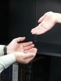 Handen van mensen. Beweging. Stock Afbeeldingen