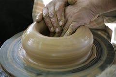Handen van pottenbakker Royalty-vrije Stock Foto