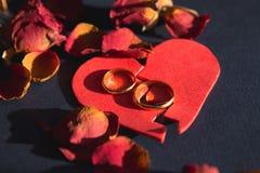 Handen van vrouw, echtgenoot die besluit van scheiding, ontbinding ondertekenen, die huwelijk, wettelijke scheidingsdocumenten, h royalty-vrije stock afbeelding
