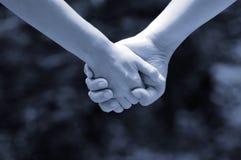 Handen van (zwart-wit) minnaars Stock Foto