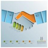 Handerschütterungs-Geschäft Infographic Stockfotografie