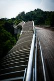 Handerson Wave Bridge Singapore. Perspective view of Handerson Wave Bridge Singapore Stock Images