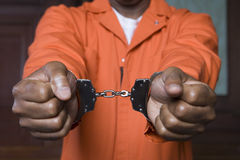 Handfängslad brottsling Royaltyfria Foton