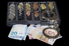 handfängslar pengar Royaltyfri Bild