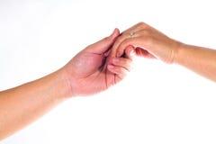 handförälskelse Arkivfoto
