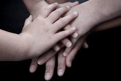 handförälskelse Fotografering för Bildbyråer