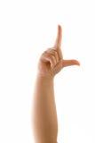 handförloraretecken Arkivfoton