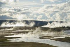 handfatgeysers yellowstone Arkivfoto