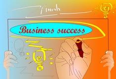 Handfokus-Geschäftserfolg Lizenzfreies Stockfoto