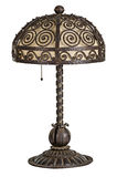 Handforged antique art nouveau table lamp Royalty Free Stock Photo
