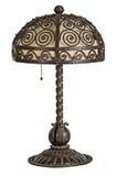 Handforged antykwarskiego sztuki nouveau stołowa lampa Zdjęcie Royalty Free