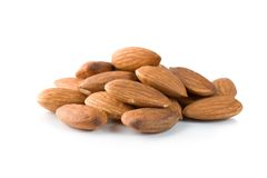 Handful almond Royalty Free Stock Images
