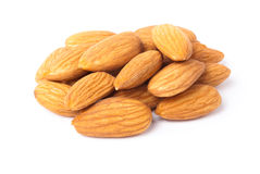 Handful of almonds Stock Photos