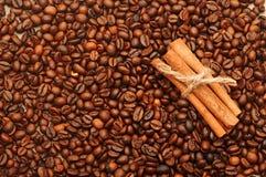 Handful aromatic coffee beans Stock Photo