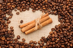 Handful aromatic coffee beans Royalty Free Stock Photos