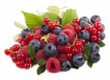 Handful of berries Royalty Free Stock Image