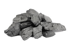 A handful black charcoal Royalty Free Stock Photography