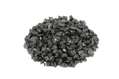 A handful of black coal Royalty Free Stock Photos