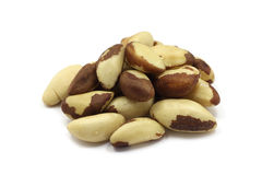 A handful of Brazil nut kernels Stock Image