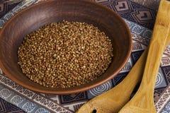 Handful of buckwheat Stock Photo