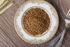 Handful of buckwheat Royalty Free Stock Images