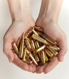 Handful of bullets Stock Photography